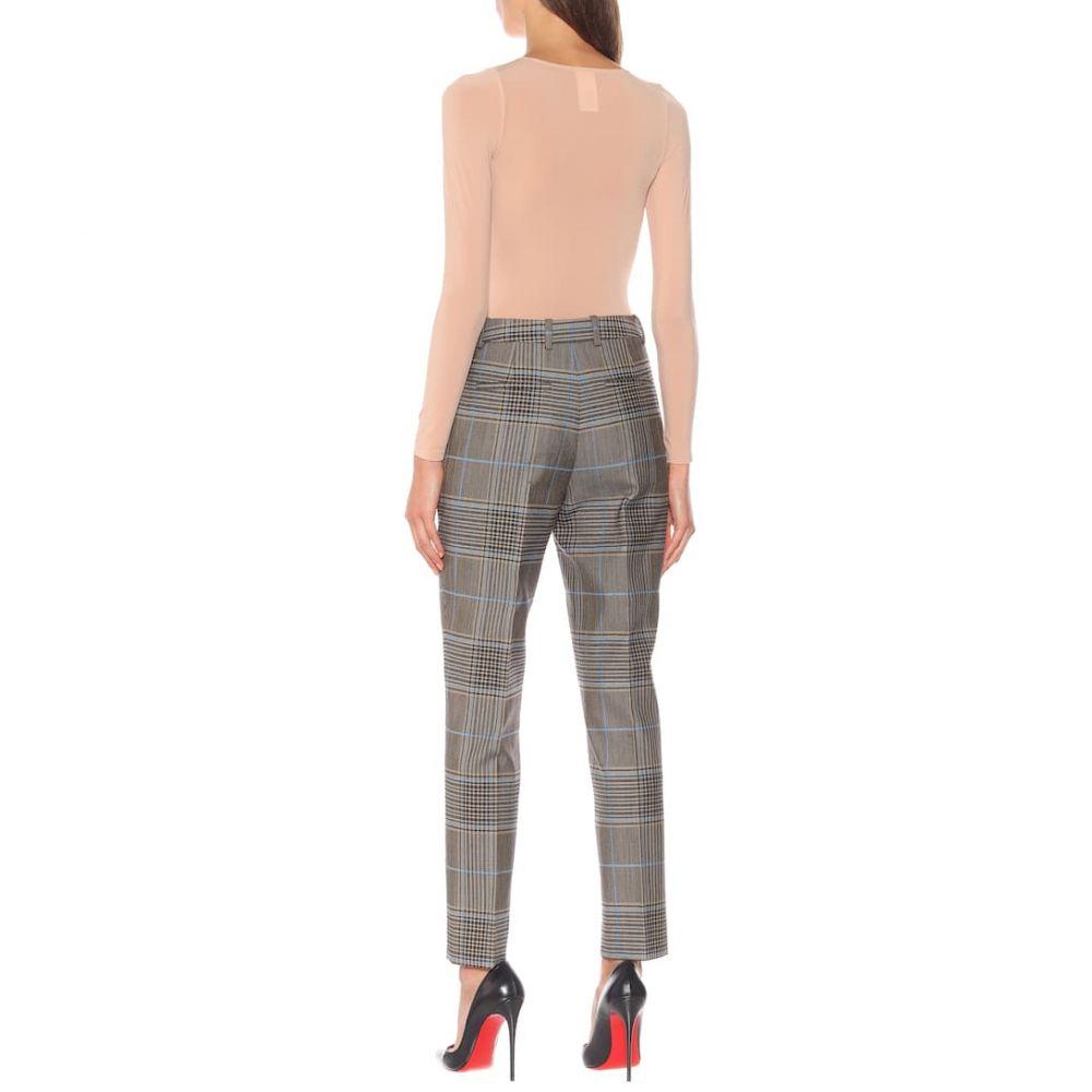 ジバンシー Givenchy レディース ボトムス・パンツ【Check wool-blend pants】Blue/Beige