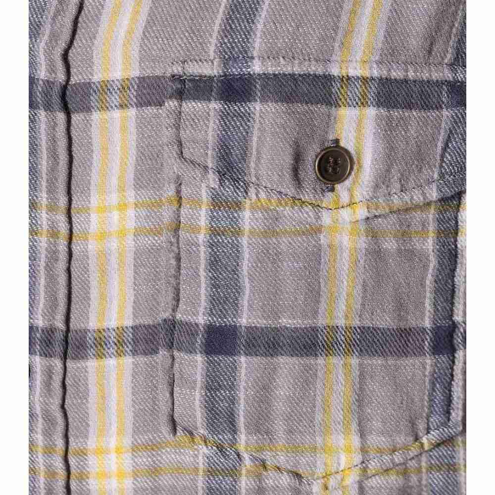 イヴ サンローラン Saint Laurent レディース トップス ブラウス・シャツ【Plaid cotton shirt】Grey Yellow