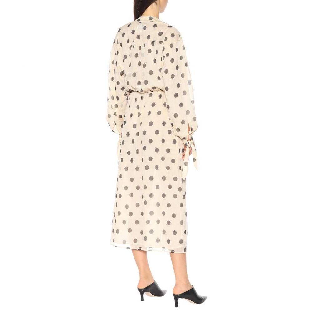 ナヌシュカ Nanushka レディース ワンピース・ドレス ワンピース【Zahara polka-dot chiffon dress】creme/black dot