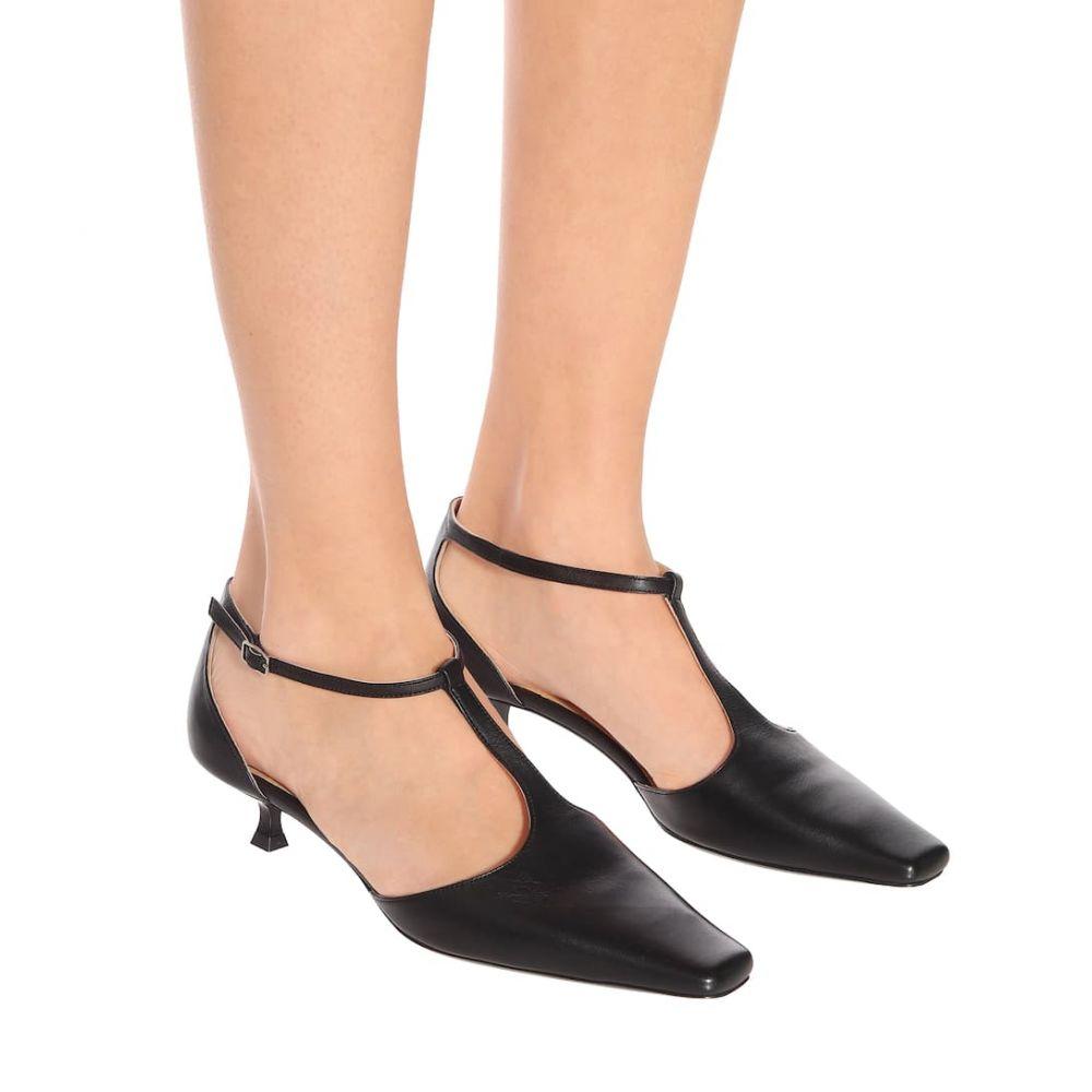 バイ ファー By Far レディース シューズ・靴 サンダル・ミュール【Bella T-bar leather sandals】black