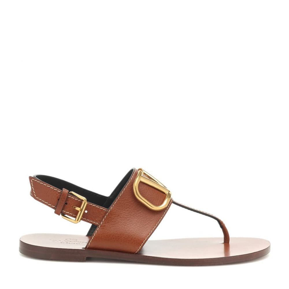 ヴァレンティノ Valentino レディース シューズ・靴 サンダル・ミュール【Garavani VLOGO leather sandals】Cuoio