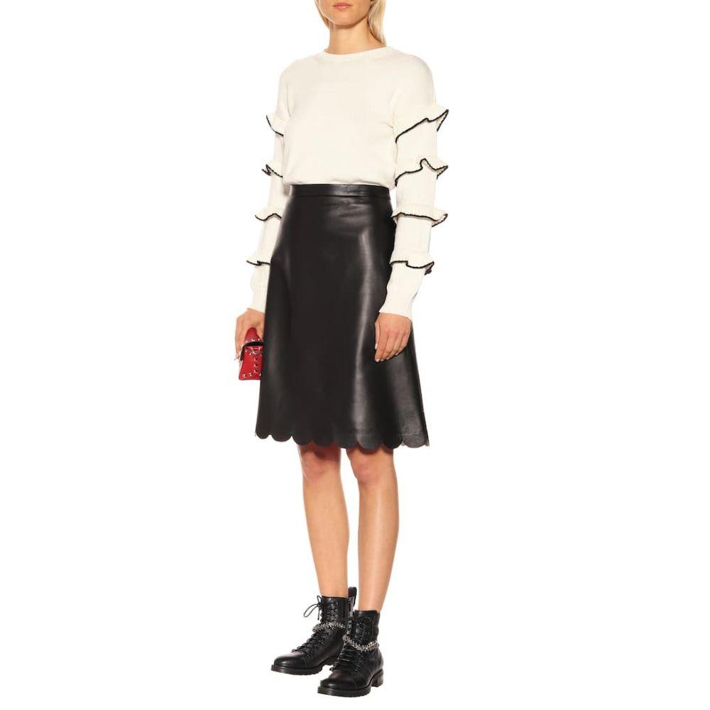 レッド ヴァレンティノ REDValentino レディース スカート ひざ丈スカート【Leather midi skirt】Nero