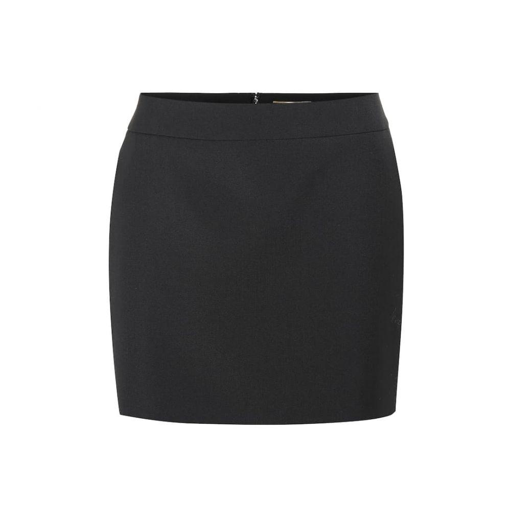 イヴ サンローラン Saint Laurent レディース スカート ミニスカート【Virgin wool miniskirt】Noir