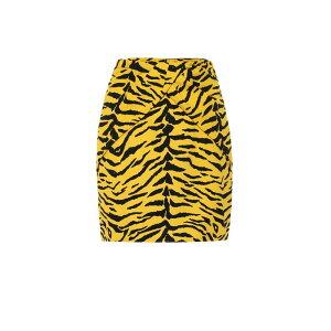 イヴ サンローラン Saint Laurent レディース スカート ミニスカート【Zebra-print miniskirt】Bouton D Or Noir
