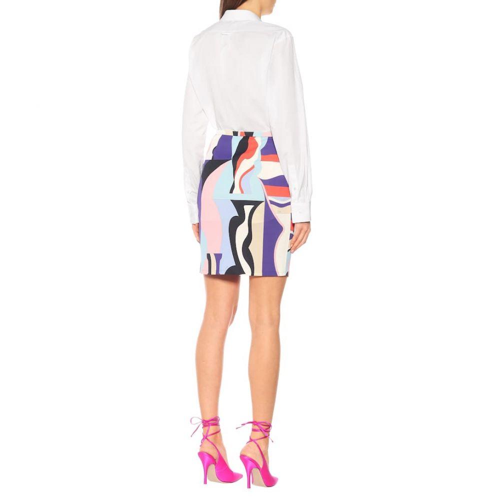 エミリオ プッチ Emilio Pucci レディース スカート ミニスカート【Printed silk-blend jersey skirt】Viola/Corallo