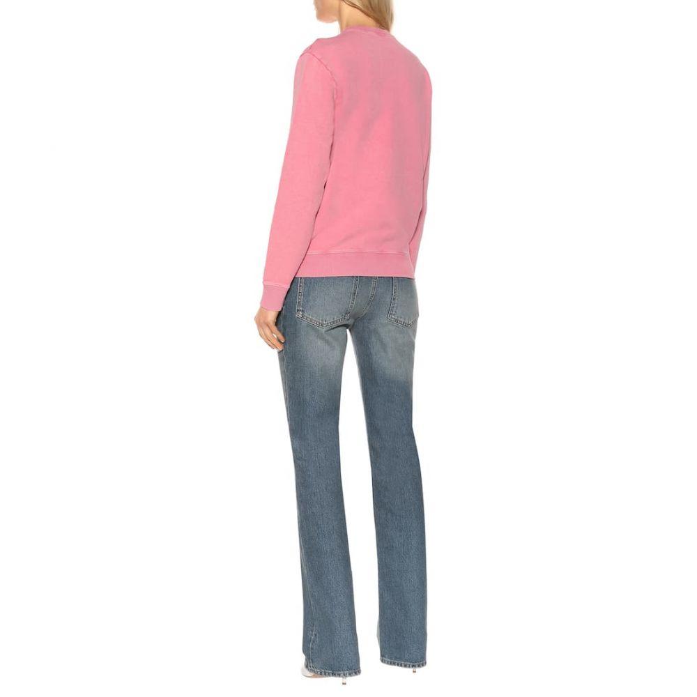 イヴ サンローラン Saint Laurent レディース トップス スウェット・トレーナー【Cotton sweatshirt】Fuschia/Noir