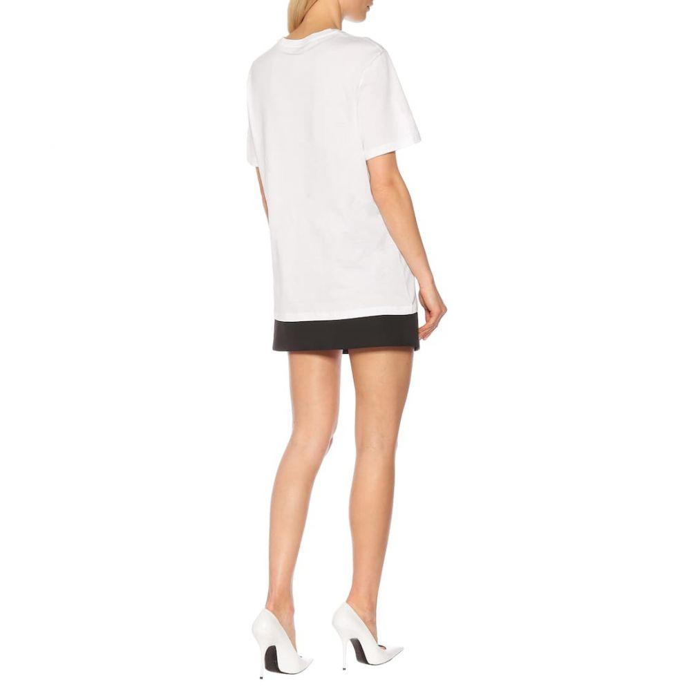 ヴェルサーチ Versace レディース トップス Tシャツ【Logo cotton T-shirt】Optical White