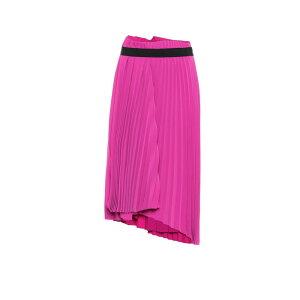Balenciaga 여자의 무릎 길이 치마 치마 [주름을 잡은 크레페 치마] 모란 핑크