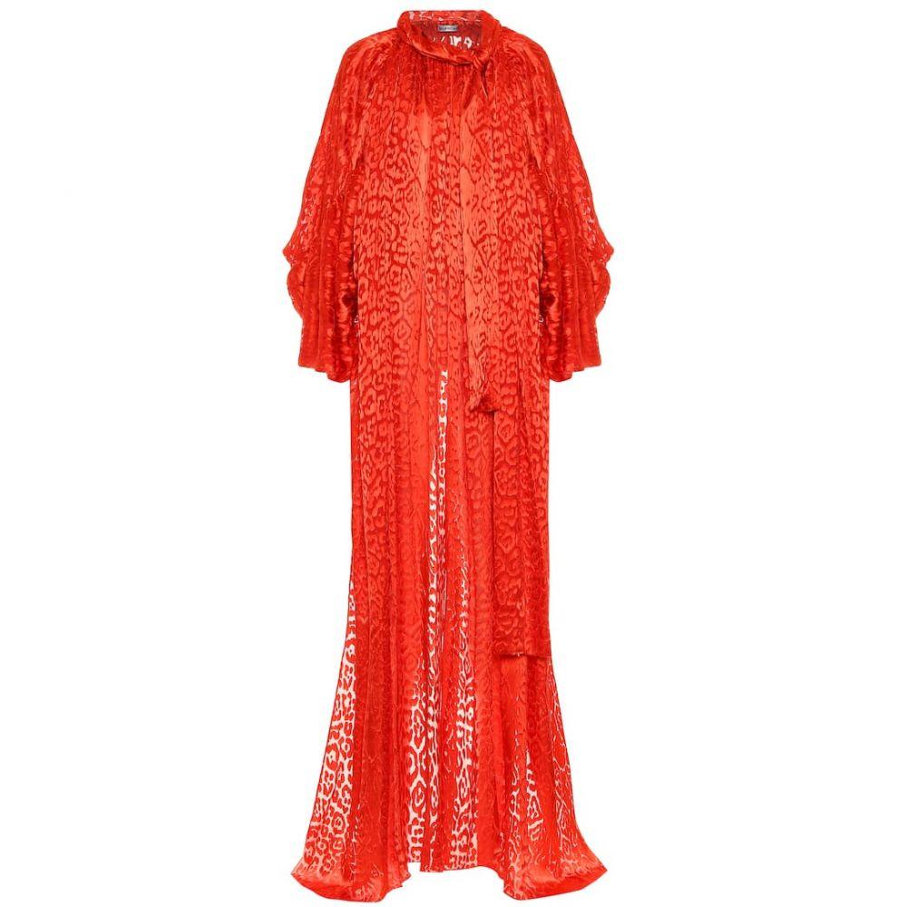 バレンシアガ Balenciaga レディース チュニック トップス【Silk-blend top】Red