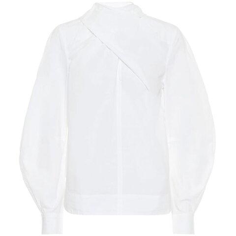 ガニー Ganni レディース ブラウス・シャツ トップス【cotton blouse】Bright White