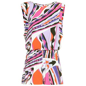 Emilio Pucci Beach Ladies All-in-One Playsuit Dress One Piece Dress [Printed playsuit] Corallo / Viola