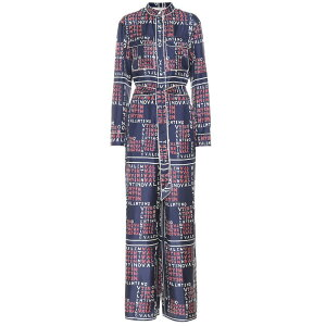 Valentino Ladies All-in-one Jumpsuit One Piece Dress [Printed silk twill jumpsuit]