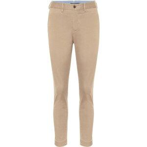 Roloph Lauren Ladies Skinny Slim Bottoms Pants [Stretch cotton-blend skinny pants] Capetown Brown
