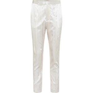 イヴ サンローラン Saint Laurent レディース ボトムス・パンツ 【Pleated silk-blend satin pants】Craie