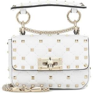 ヴァレンティノ Valentino レディース ショルダーバッグ バッグ【Garavani Rockstud Spike Mini leather crossbody bag】Optic White