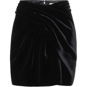تنورة قصيرة للسيدات من إيف سان لوران [تنورة قصيرة مخملية] أسود
