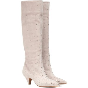 Valentino Ladies Boots Shoes/Shoes [garavani embellished suede boots]