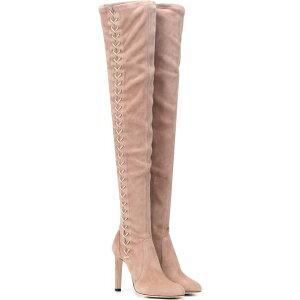 ジミー チュウ Jimmy Choo レディース ブーツ シューズ・靴【marie 100 suede boots】Ballet Pink