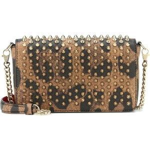 クリスチャン ルブタン Christian Louboutin レディース ショルダーバッグ バッグ【zoompouch leather shoulder bag】Brown/Gold