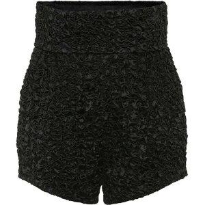 伊夫·圣罗兰(Yves Saint Laurent)女士短裤底裤[罩衫式缎面高腰短裤]黑色