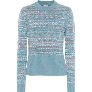 Loewe Loewe Ladies Knit Sweater Tops [wool sweater] Blue