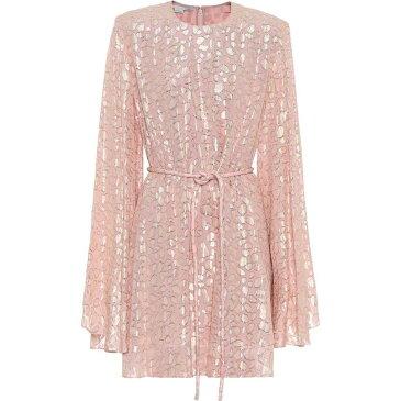ステラ マッカートニー Stella McCartney レディース ワンピース ワンピース・ドレス【Silk-blend fil coupe minidress】Ballet Pink