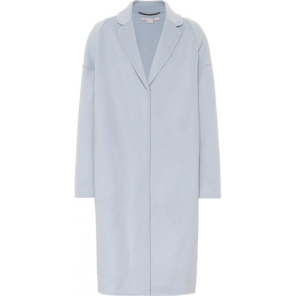 ステラ マッカートニー Stella McCartney レディース コート アウター【Wool coat】Angel Blue