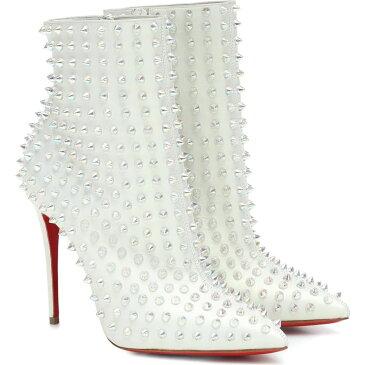 クリスチャン ルブタン Christian Louboutin レディース ブーツ ショートブーツ シューズ・靴【Snakilta 100 leather ankle boots】Snow/Clear