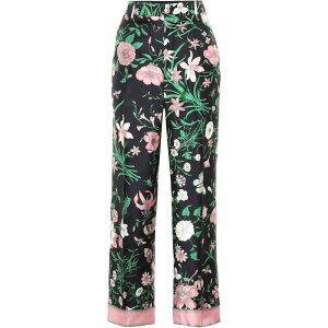 グッチ Gucci レディース ボトムス・パンツ 【Floral silk pants】Multi