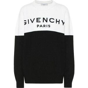 ジバンシー Givenchy レディース ニット・セーター トップス【Logo cashmere sweater】Black/White