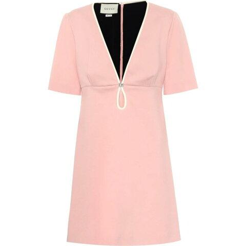 グッチ Gucci レディース ワンピース ワンピース・ドレス【Embellished stretch-cady minidress】Pale Rose/Almond Flower