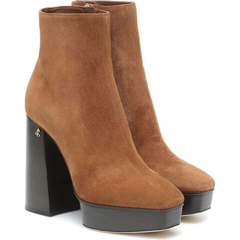 ジミー チュウ Jimmy Choo レディース ブーツ ショートブーツ シューズ・靴【bryn 125 suede platform ankle boots】Clove