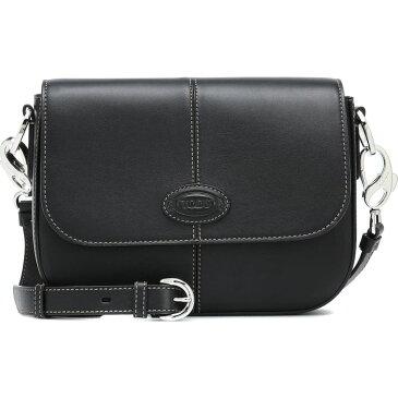 トッズ Tod's レディース ショルダーバッグ バッグ【leather crossbody bag】Nero