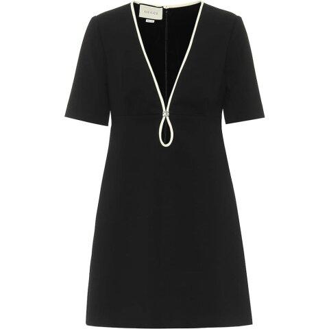 グッチ Gucci レディース パーティードレス ワンピース・ドレス【crepe minidress】Black/Almond Flower