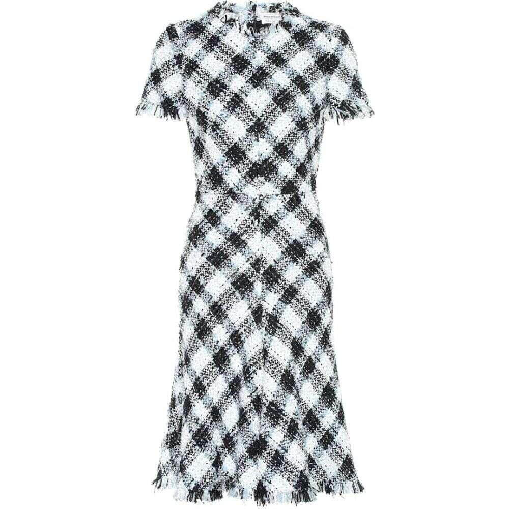 レディースファッション, ワンピース  Alexander McQueen checked tweed dresspale blue