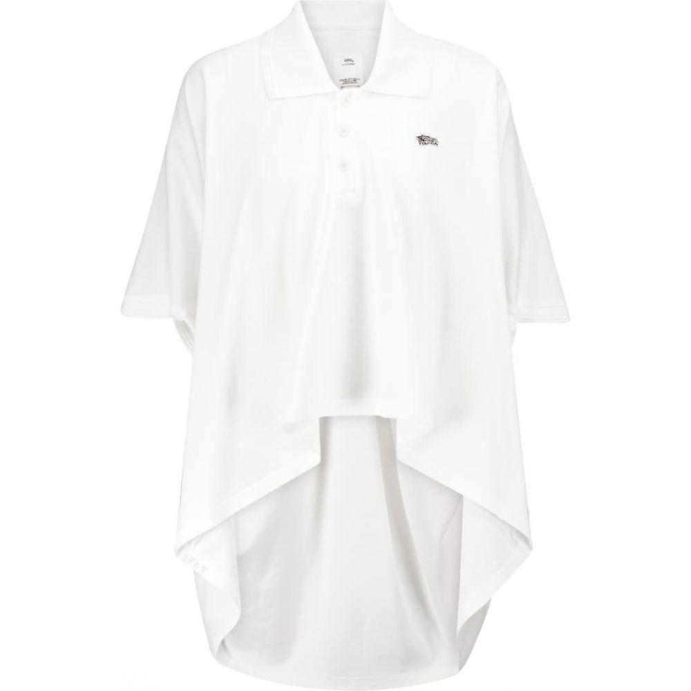 トップス, ポロシャツ  VISVIM Cotton pique polo shirtWhite