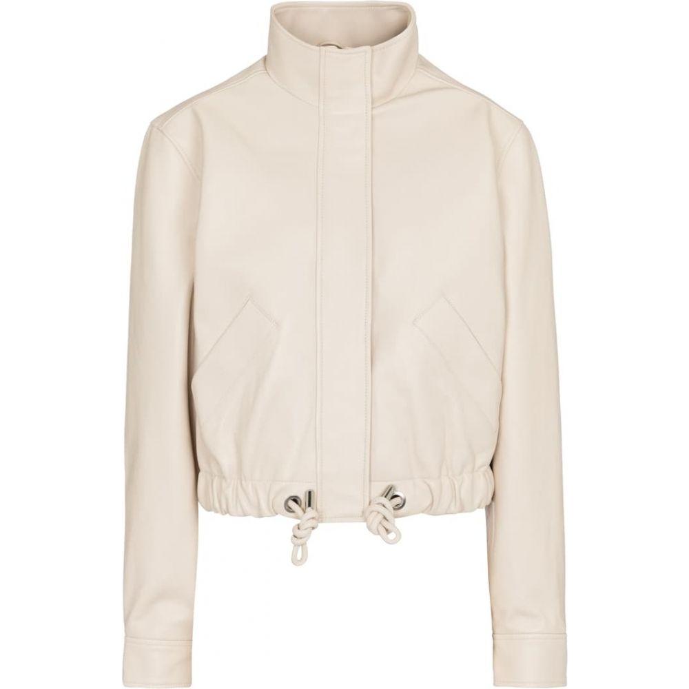 レディースファッション, コート・ジャケット  Proenza Schouler Drawstring cropped leather jacketEcru
