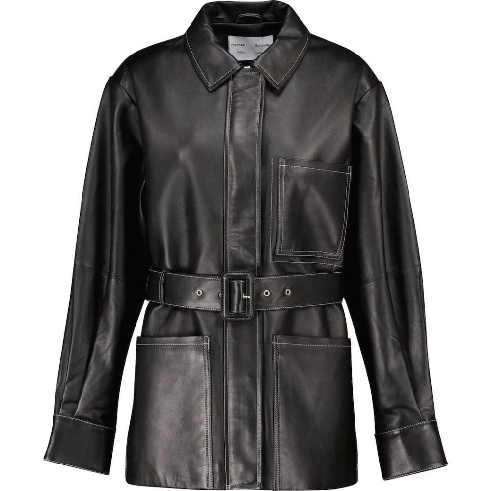 レディースファッション, コート・ジャケット  Proenza Schouler White Label belted leather jacketBlack