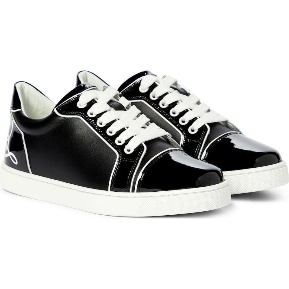 レディース靴, スニーカー  Christian Louboutin Fun Viera leather sneakersBlackBianco