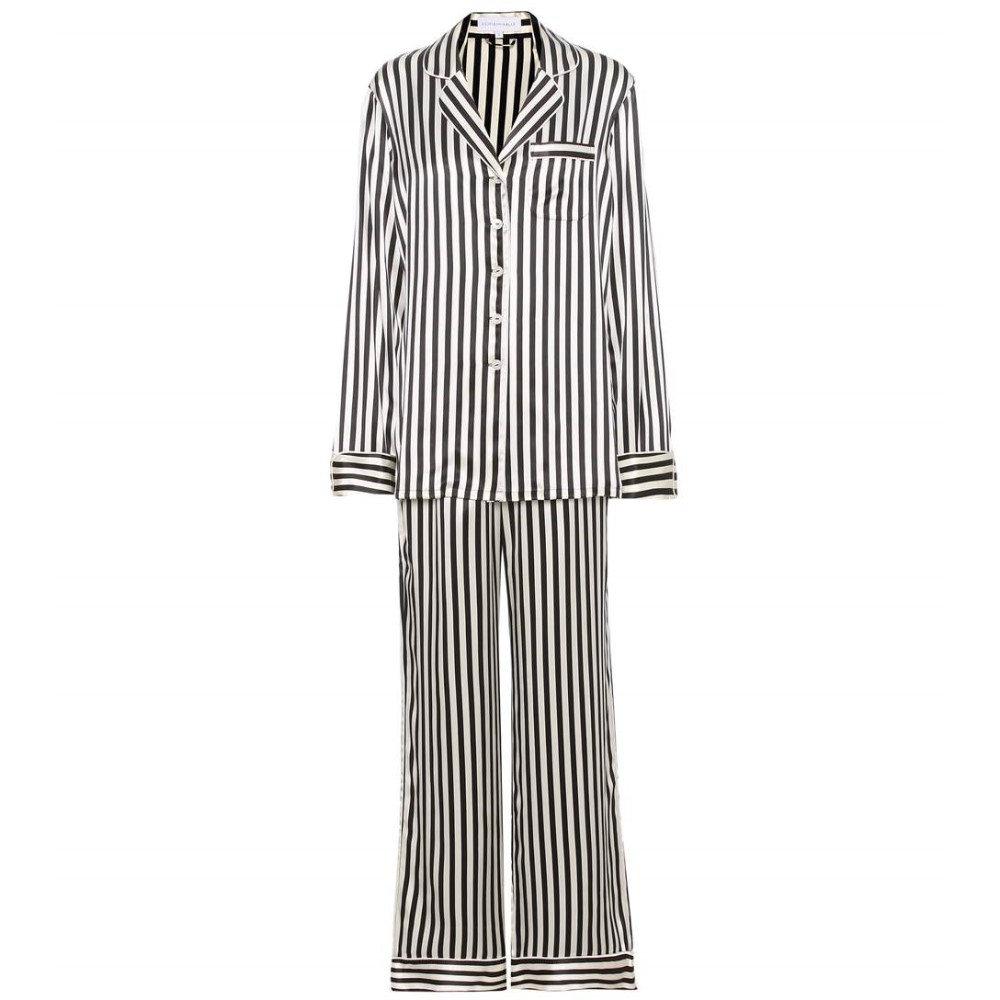 オリヴィア ヴォン ホール Olivia von Halle レディース インナー パジャマ【Lila Nika striped silk-satin pyjamas】:フェルマート