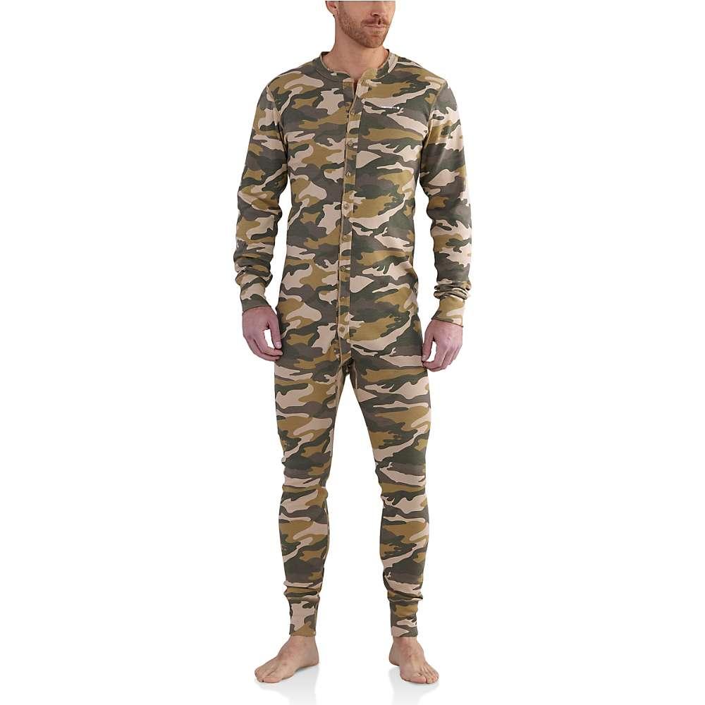 カーハート メンズ インナー パジャマ・ボトムのみ【Carhartt Midweight Cotton Union Suit】Rugged Khaki Camo