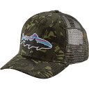パタゴニア メンズ 帽子 ハット【Patagonia Fitz Roy Trout Trucker Hat】Big Camo / Fatigue Green