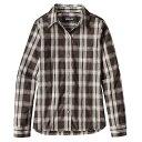 パタゴニア レディース トップス 長袖シャツ【Patagonia Island Hopper II LS Shirt】Water Wheel / Ink Black