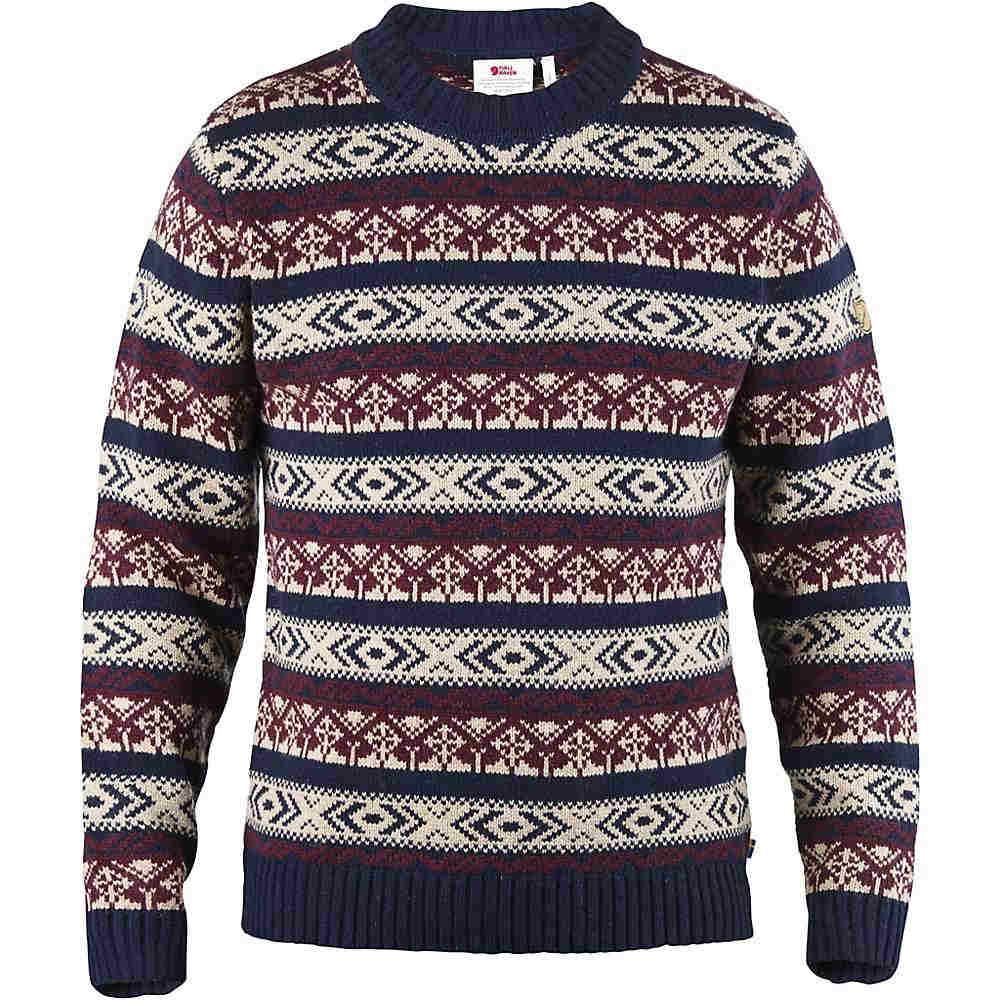 フェールラーベン メンズ トップス ニット・セーター【Fjallraven Ovik Folk Knit Sweater】Dark Navy:フェルマート