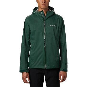 コロンビア Columbia メンズ レインコート アウター【EvaPOURation Jacket】Rain Forest