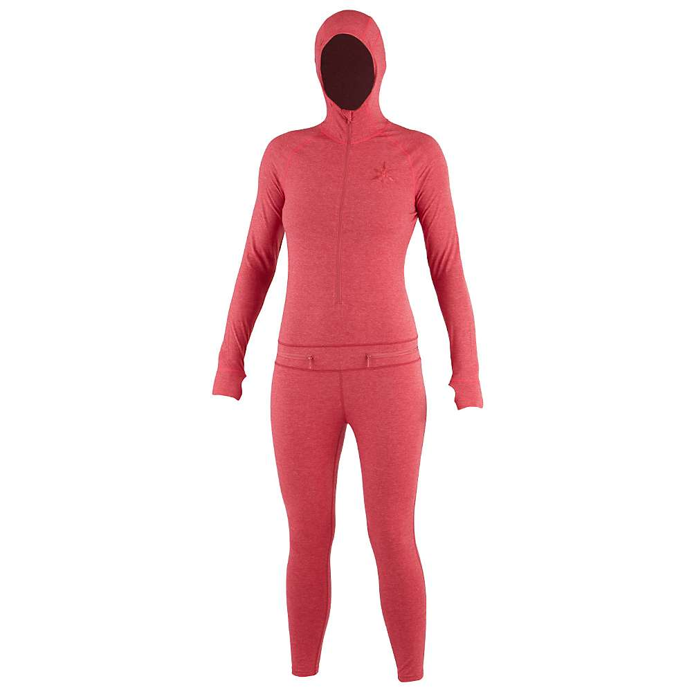 エアブラスター レディース インナー パジャマ【Airblaster Merino Ninja Suit】Berry:フェルマート