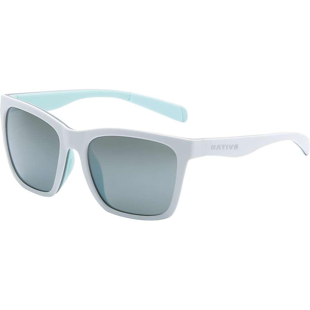 ネイティブ メンズ アクセサリー メガネ・サングラス【Native Braiden Polarized Sunglasses】Matte White / Grey / Mint / Silver Reflex Polrized:フェルマート