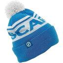 スカルパ Scarpa メンズ ニット ポンポン ビーニー 帽子【Pom Beanie】Blue/White