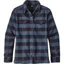 パタゴニア レディース トップス ブラウス・シャツ【Patagonia Fjord Flannel LS Shirt】Boxwood Plaid / Navy Blue