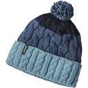 パタゴニア レディース 帽子 ニット【Patagonia Pom Beanie】Glacier Stripe / Tubular Blue